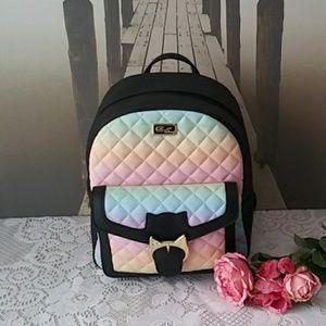 Betsey Johnson Rainbow Backpack NWT